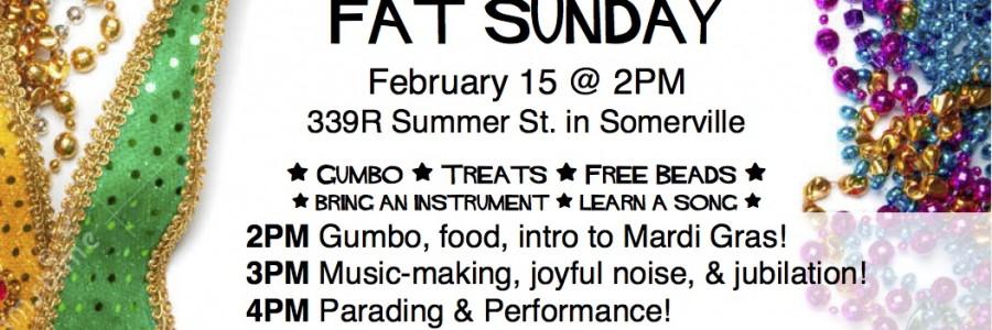 Fat Sunday Celebration!